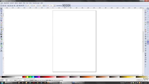 Inkscape Startbildschirm