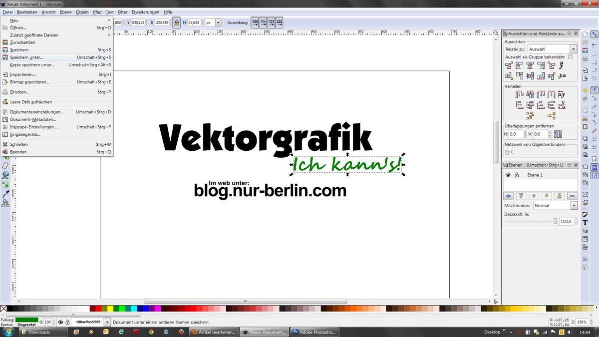Vektorgrafik Erstellen Inkscape