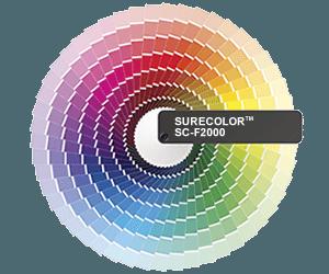 Farbrad mit möglichen CMYK-Druckfarben beim Direktdruck