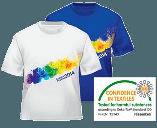 OEKO-TEX® Zertifikat für Drucke auf hellen und dunklen Textilien ohne Hintergrund