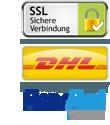 Sicherheit durch SSL - DHL Versand - Mit Billpay per Rechnung bezahlen
