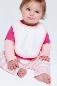 Babybugz Baby Bib with Contrast Ties