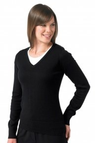 Russell Ladies V-Neck Knitted Pullover