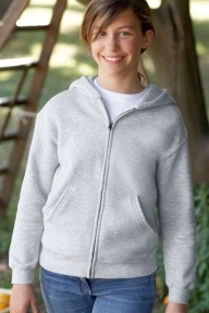 Fruit of the Loom Kids Hooded Zip Sweat