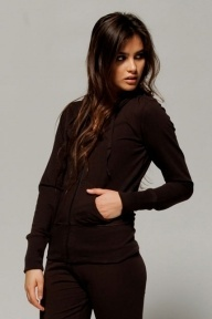 Bella Stretch French Terry Hooded Jacket