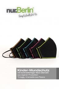 nur.Berlin® Kinder-Mundschutz NEON