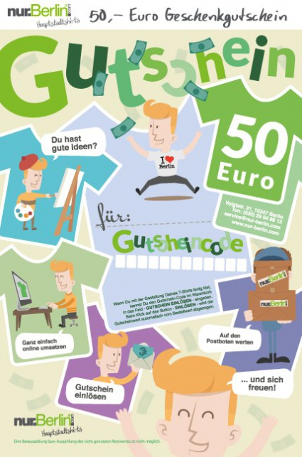 Geschenk-Gutschein 50,- Euro