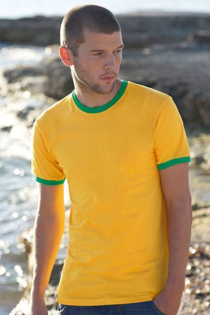 Produktbild: Fruit of the Loom Herren T-Shirt Ringer T [61-168-0]