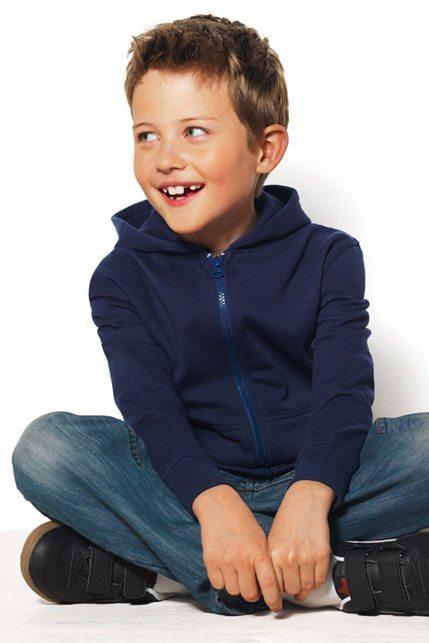 Produktbild: Hanes Junior Tagless Zipped Hoodie Organic