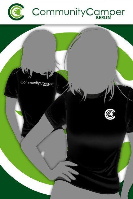 Produktbild: Hauptstadtshirts CCB Girly-Shirt, schwarz