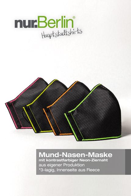 Produktbild: nur.Berlin® Mundschutz NEON