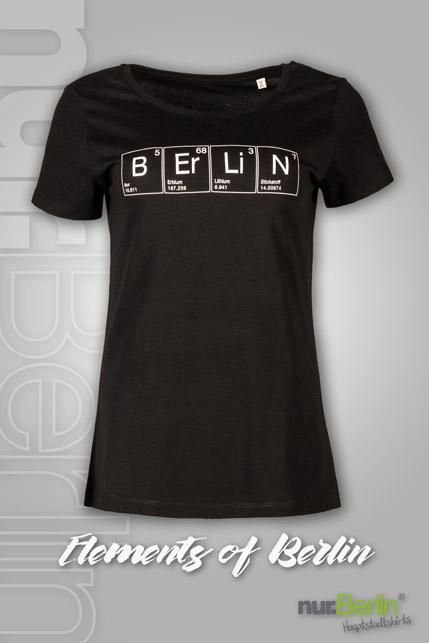 Produktbild: nur.Berlin® Damen T-Shirt Elements of Berlin