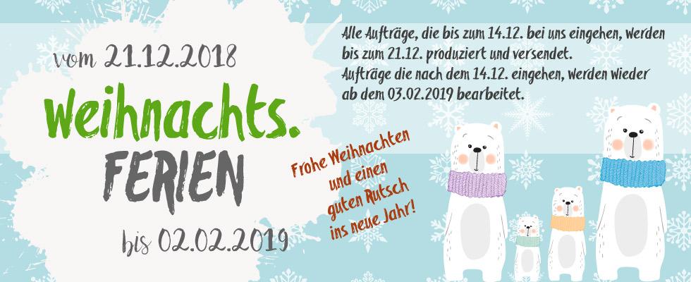 Online-Shop-Banner: Weihnachtsferien